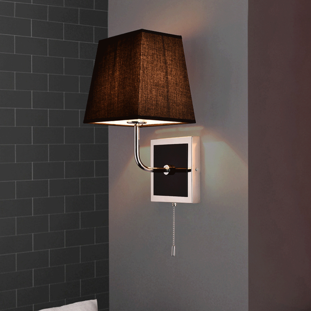 led e27 American Iron Fabric LED Lamp LED Light Wall lamp Wall Light Wall Sconce With Cord Switch For Bar Store Foyer Bedroom european pastoral tiffany e27 led wall light simple painted iron frame sandy glass bedroom led wall lamp foyer led wall lighting
