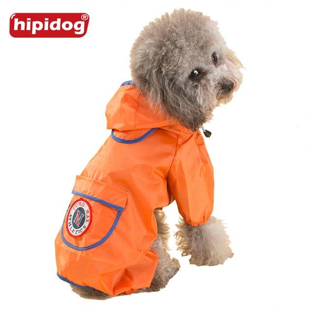 a27c7c8de Hipidog Pet capa de Chuva capa de Chuva Cão Casaco Com Capuz Roupas de  Estilo Inglaterra