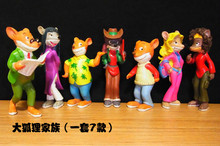 Gcartoon fox FAMILY doll model decoration Toys figures 7pcs/set