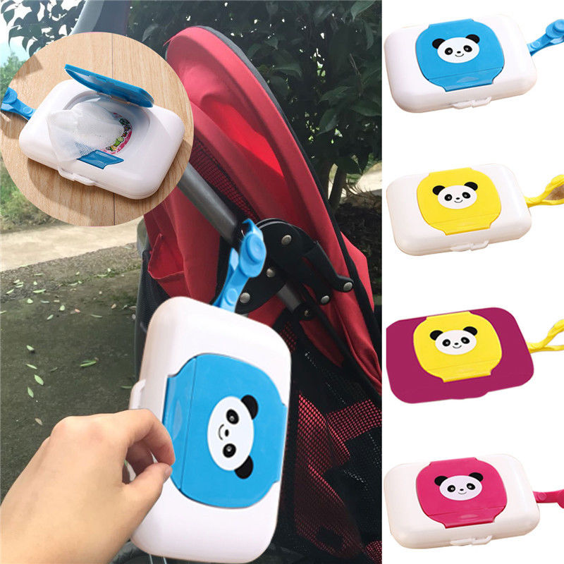 Baby Travel Ourdoor Portable Wet Wipes Tissue Box Cute Baby Wipes Box Plastic Wipes Box For Trolleys Box Dispenser Supplies