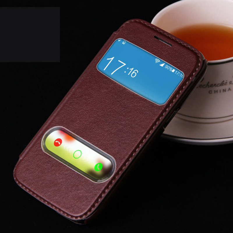 High Quality Hot Flip Ultrathin View Window Leather Case For Samsung Galaxy win i8552 i8558 i8550 Case Luxury Phone Cover