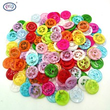 100P 13MM Mix color plastic buttons childrens apparel supplies sewing accessories DIY free shipping A245
