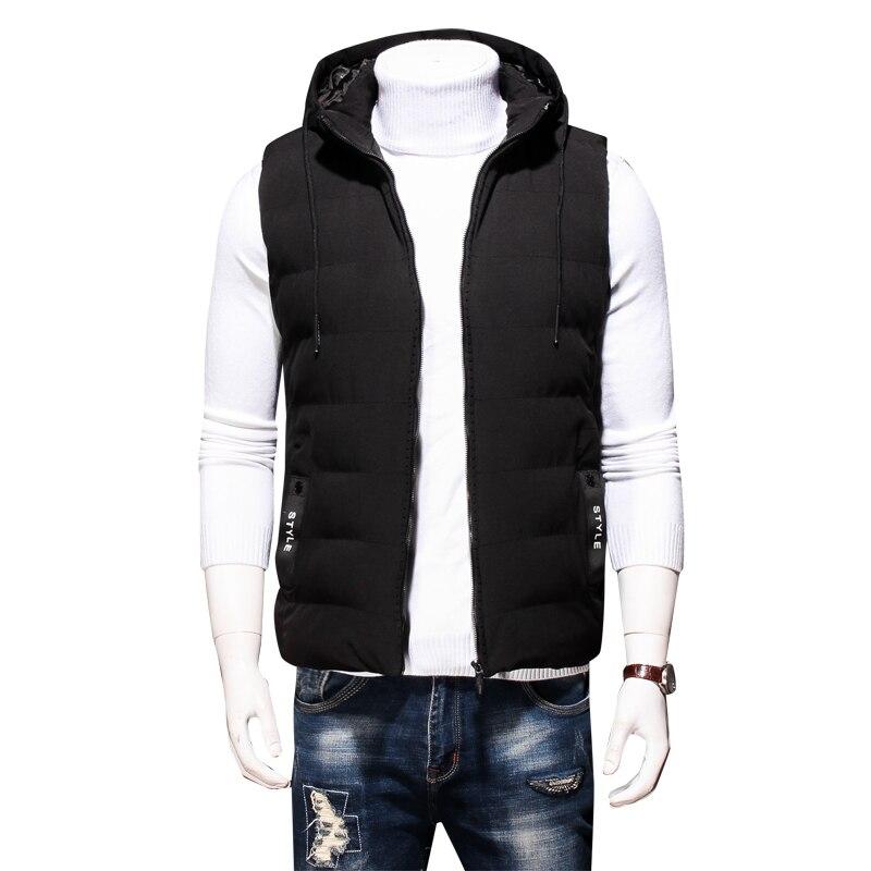 Plus Size 8XL 7XL Winter men's Warm sleeveless Vest men cotton hooded jacket male zipper Waistcoat for Autumn male gilet homme