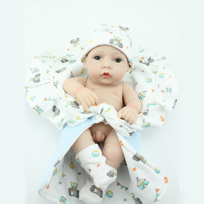 Realistic Reborn Baby Dolls 10'' Soft Vinyl Real Life ...
