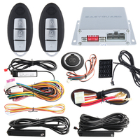 Universal PKE Car Alarm System Auto Passive Keyless Entry Kit Remote Engine Start Stop Push Button