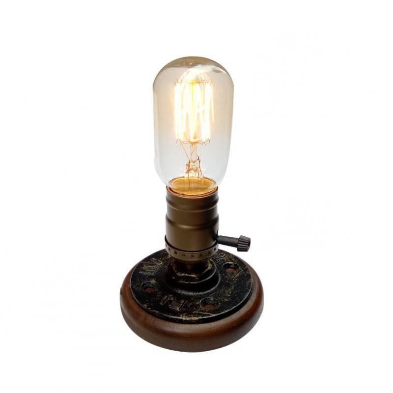 Wood Table Lamps Retro E27 Light For Bedroom Lamparas De Mesa Led Desk Lamp Reading 110v-220v