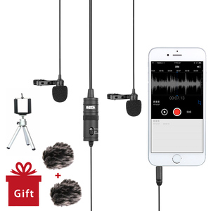 Image 2 - BOYA BY M1DM Lavalier Microphone 4m Omni directional Clip on Lapel Video Mic for iPhone Canon Nikon DSLR,Updated of BY M1