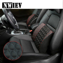 NWIEV Massage Lumbar Support Cushion Car Seat Pillow For Lada Granta Vesta Citroen C4 C5 C3 Audi A3 A4 B6 B8 Renault Captur Clio