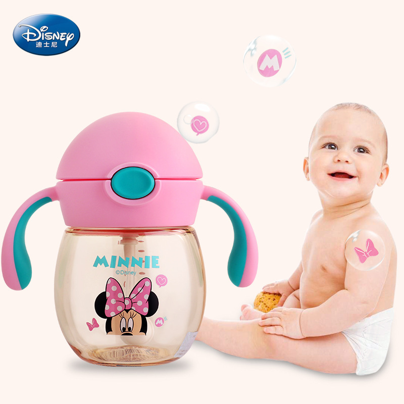 350ml Baby Cup Feeding Water Bottle With Handle No Spill Hot Water Bottle With Straw Heathy Learning Drink Sippy Copo Cute Gift 240ml baby drinking water bottle cups with straw portable feeding bottle cartoon water feeding cup with the handle for baby hot