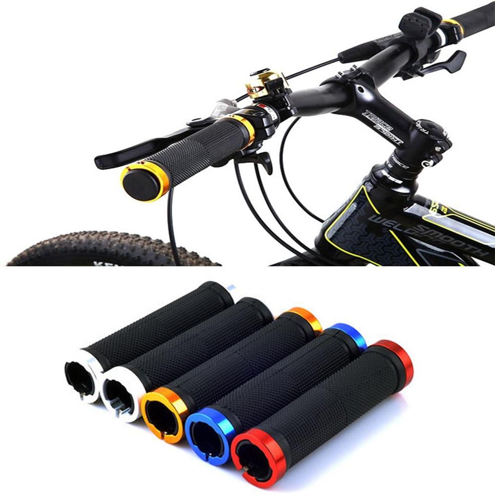 1Pair MTB Mountain Bike Bicycle Handlebar Grips Cycling Lock-On Rubber Anti-Skid