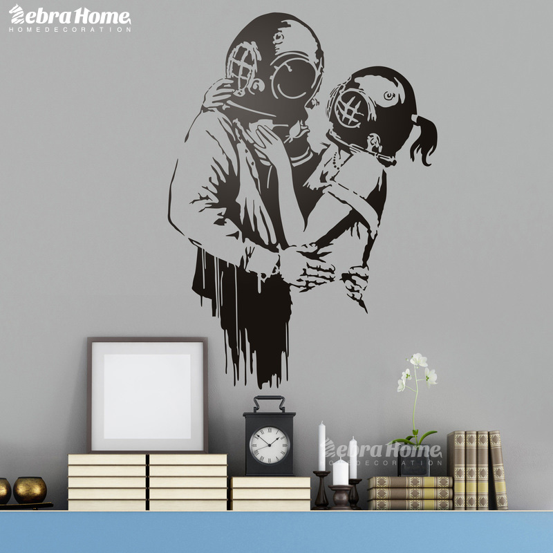 Banksy Wall Stickers For Living Rooms Schoolroom Home