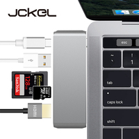 JCKEL USB Type C 3.1 Hub to HDMI 4K Adapter Thunderbolt3 Dock Dongle Combo SD TF Card Slot With Type C Charing For MacBook Pro