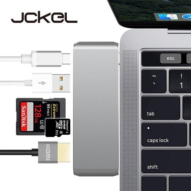 JCKEL USB tipo C 3,1 Hub 4 K HDMI adaptador Thunderbolt3 muelle Dongle Combo SD ranura para tarjeta de TF con tipo C Charing Cross para el MacBook Pro