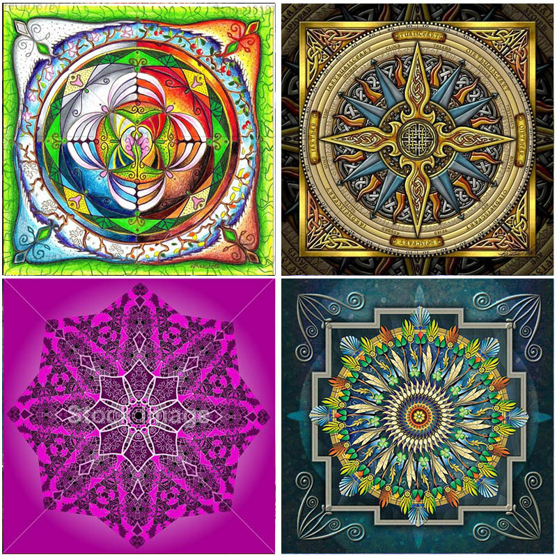Full Square Drill Mandala Flower pictures Cross Stitch Resin 5D DIY Diamond Painting Home Decorations Embroidery Mosaic Gift in Diamond Painting Cross Stitch from Home Garden