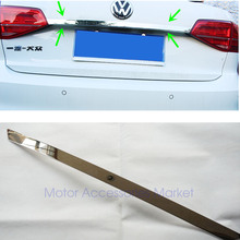 Новая хромированная Задняя Крышка багажника из нержавеющей стали для Volkswagen Jetta 6 MK6 2011 2012 2013