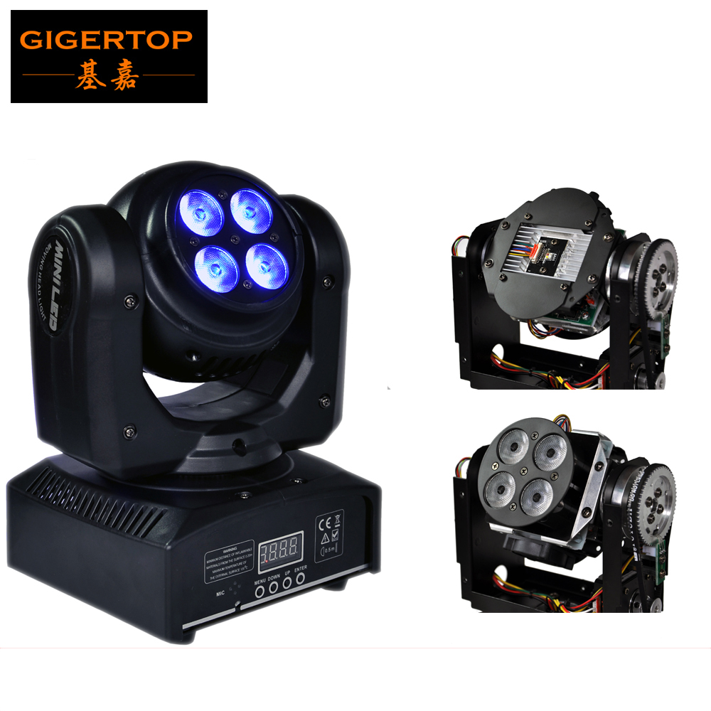 Sample New Double Face Mini Endless Rotating RGBW Led Moving Head Beam 1*10W Cree + 4*10W Tianxin Led Wash Stage Effect Lights 10w rgbw mini led beam moving head light disco dj stage lighting dmx512 mini 10w led linear beam chandelier 10w wash beam lamps