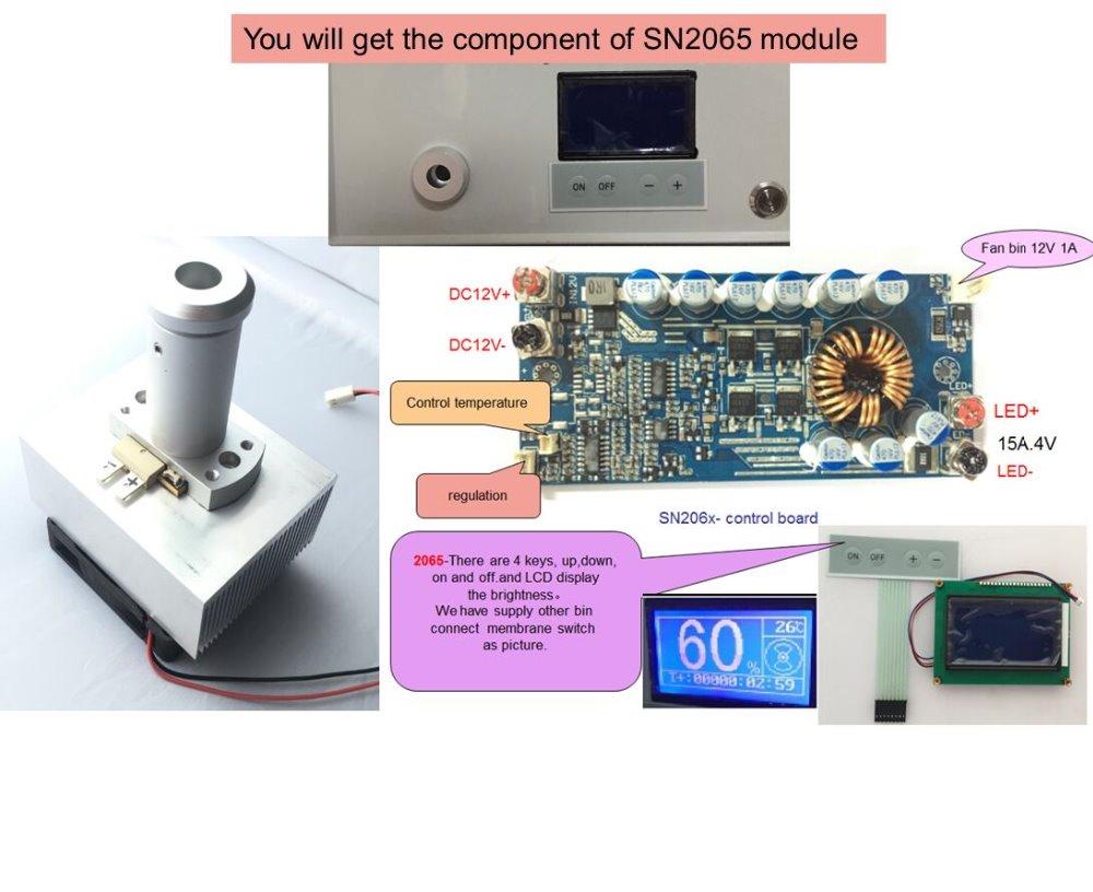 LED endoscope the latest  light source module High CRI>90 CT 5700K controller Keyboard LCD display SN2065H