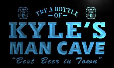 x0127-tm Kyles Man Cave Beer-Ale Bar Custom Personalized Name Neon Sign Wholesale Dropshipping On/Off Switch 7 Colors DHL