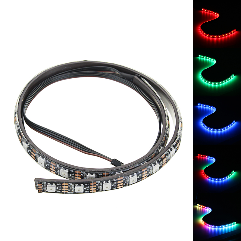 50cm Magnetic RGB Flexible LED Strip with 30pcs LED for Desktop PC Computer Case Strip Light Waterproof Power Supply good group diy kit led display include p8 smd3in1 30pcs led modules 1 pcs rgb led controller 4 pcs led power supply