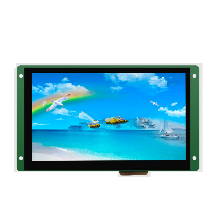 DMT80480T070_07WT 7 inch serial screen DGUS industrial capacitive touch screen voice screen configurationDMT80480T070_07WT 7 inch serial screen DGUS industrial capacitive touch screen voice screen configuration
