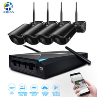 Security Camera System 4CH NVR Kit 1080P HD Outdoor IP Camera P2P Cloud Wifi Wireless Surveillance Kit Home CCTV Camera System
