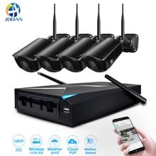 Безопасности Камера Системы 4CH NVR 1080 P открытый IP Камера P2P облако Wi-Fi Беспроводной видеонаблюдения Комплект Главная безопасности CCTV Системы