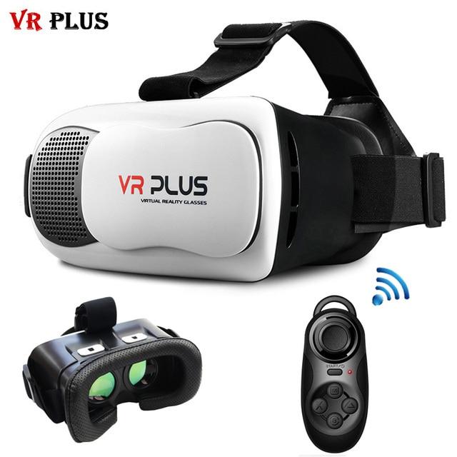 120FOV VR Box 3.0 Virtual Reality VR Plus Cardboard Real Glass Lenses Helmet 3D Glasses Headset for 4-6' Smartphone + Gamepad