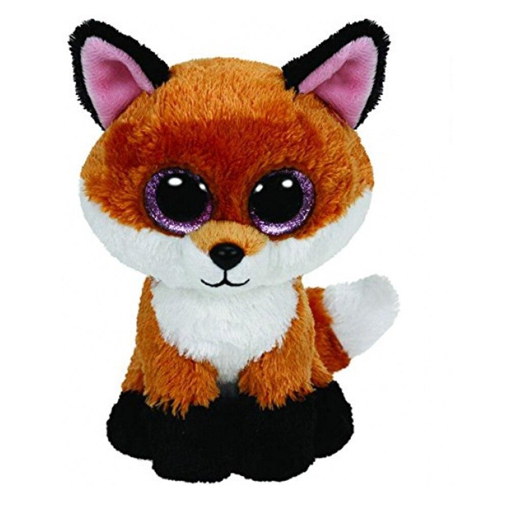 Ty Beanie Боос 6-Inch пятно Brown Fox плюшевые шапочка Детские плюшевые игрушки куклы Коллекционные мягкие игрушки большой глаза Плюшевые игрушки