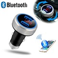 2016 New Bluetooth FM Transmitter Car MP3 Player Voltage Monitor Handsfree Quick Charger Adapter Dual USB Port