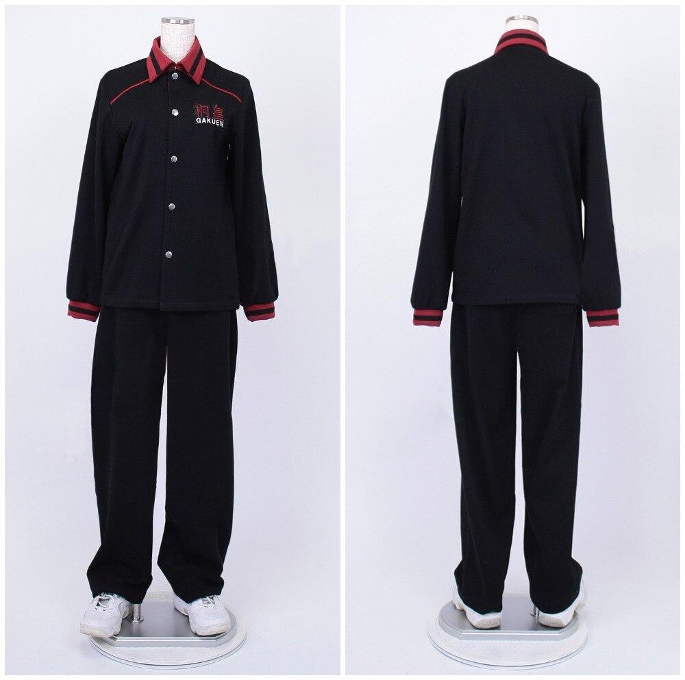 2c70a36ba3 Kuroko no Basquete (kuroko Basketball) Aomine Daiki preto de manga longa  jersey Touou Da High School uniform cosplay