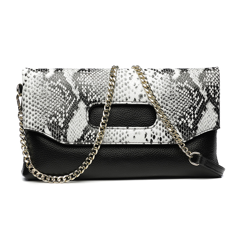 Genuine Leather Women clutch bag shoulder Messenger bag female snake handbag Crocodile Pattern Cowhide leather hand