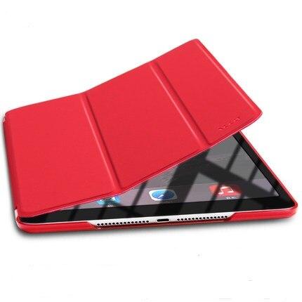 Εξαιρετικά λεπτό μαγνητικό μπροστινό PU δέρμα λεπτό έξυπνο κάλυμμα δέρματος + κρυστάλλινο διαφανές Hard Back Case PC για Apple iPad 2 3 4