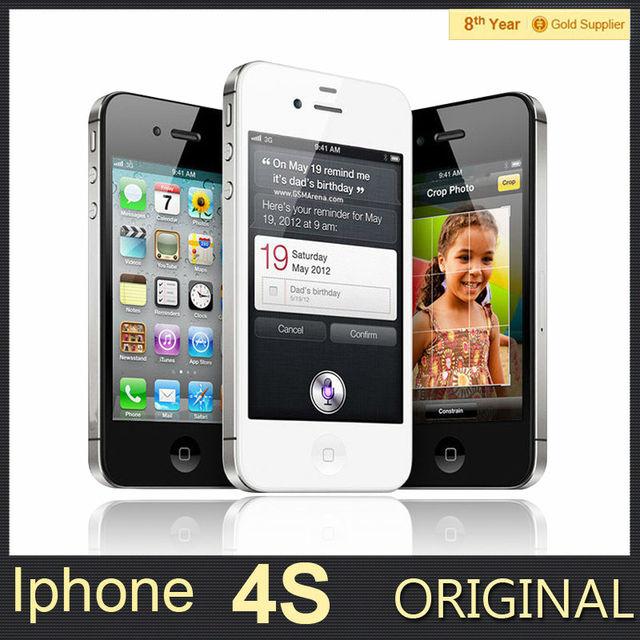 100% Original Unlocked iPhone 4S Mobile Phone 16GB 32GB 64GB ROM Dual core WCDMA 3G WIFI GPS 8MP Camera Used apple Cell phone
