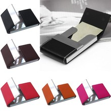 Фотография Wallet Men Women Traveling Metal Wallet Credit Card Package Card Holder Double Open Business Card Case Box Porte Carte