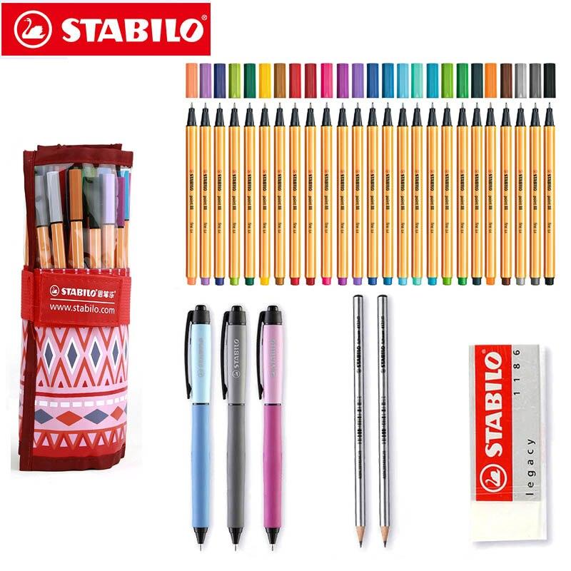 Stabilo Point 88 Fineliner stylos 0.4mm professionnel couleur Art marqueur multicolore 31 pièces rouleau ensemble pour écrire dessin croquis