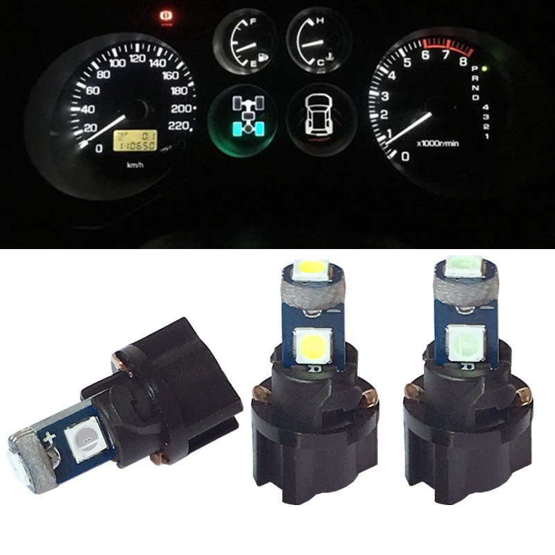 100Pcs T5 PCB 3030 3SMD 18 37 70 1 LED Dashboard Cluster Gauge Lights Bulbs 12V