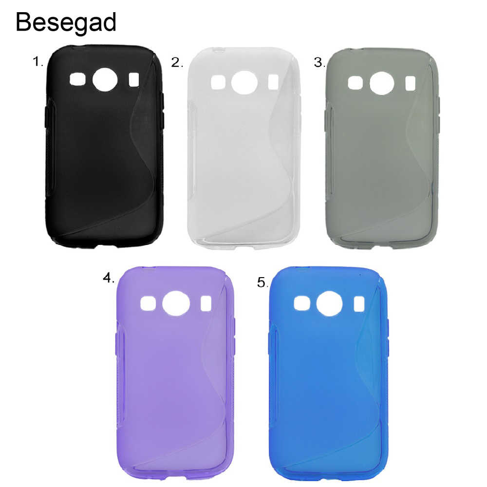 42b162df0e4 Besegad Flexible TPU Protective Case Cover Skin Shell for Samsung Galaxy  ACE4 ACE 4 4G G357D