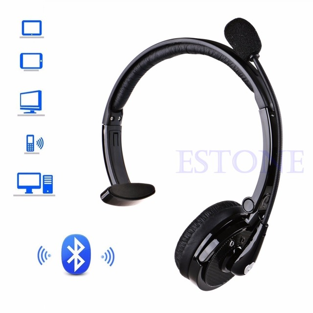 Noise Canceling BH M10B Bluetooth Over Head Boom Mic Headset For Trucker Drivers M35
