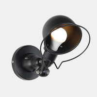 Creative Adjustable iron E14 Wall Lamp Retro industrial wind Wall Light Sconce For aisle Warehouse restaurant Internet cafe