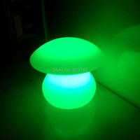 Free Shipping 1 Piece Rechargeable Colorful Waterproof LED Mushroom Lamp Of LED Little Table Lamp For