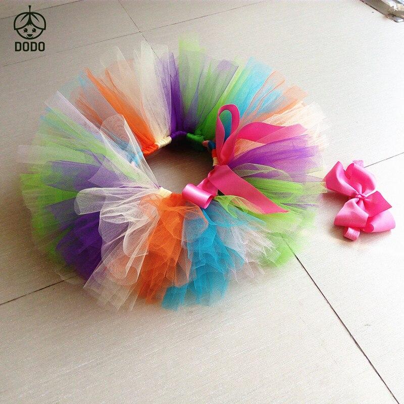 Ny anländer Baby Födelsedag kjol Tutu kjol + huvudband Fluffy Ball - Babykläder