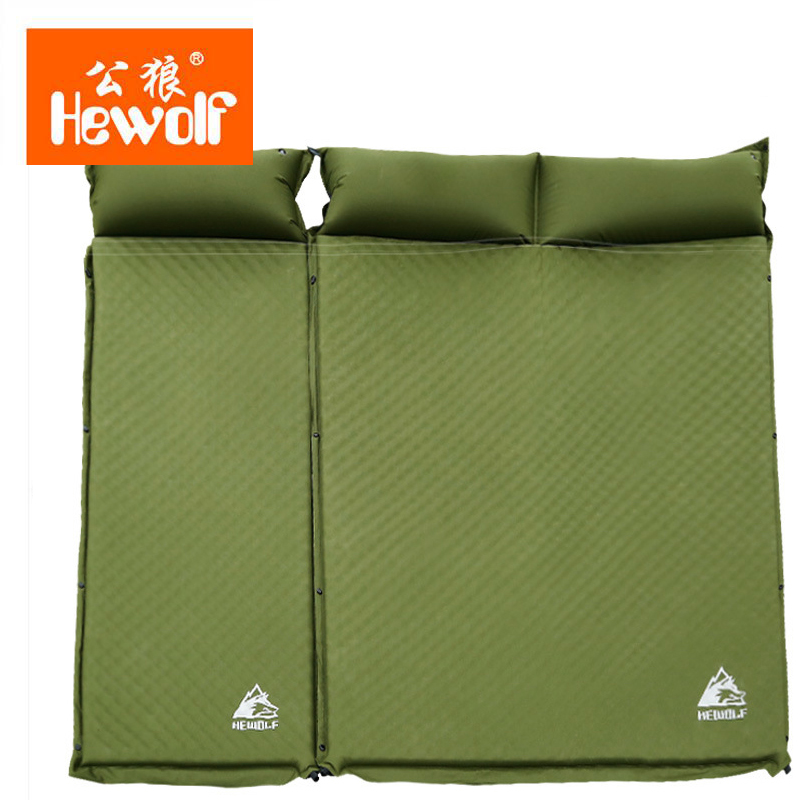Hewolf Air Bed Outdoor Camping Mat Automatically Inflatable Single Air Mattress Damp-proof Double Mattress Sleeping Pad 5cm durable thicken pvc car travel inflatable bed automotive air mattress camping mat with air pump
