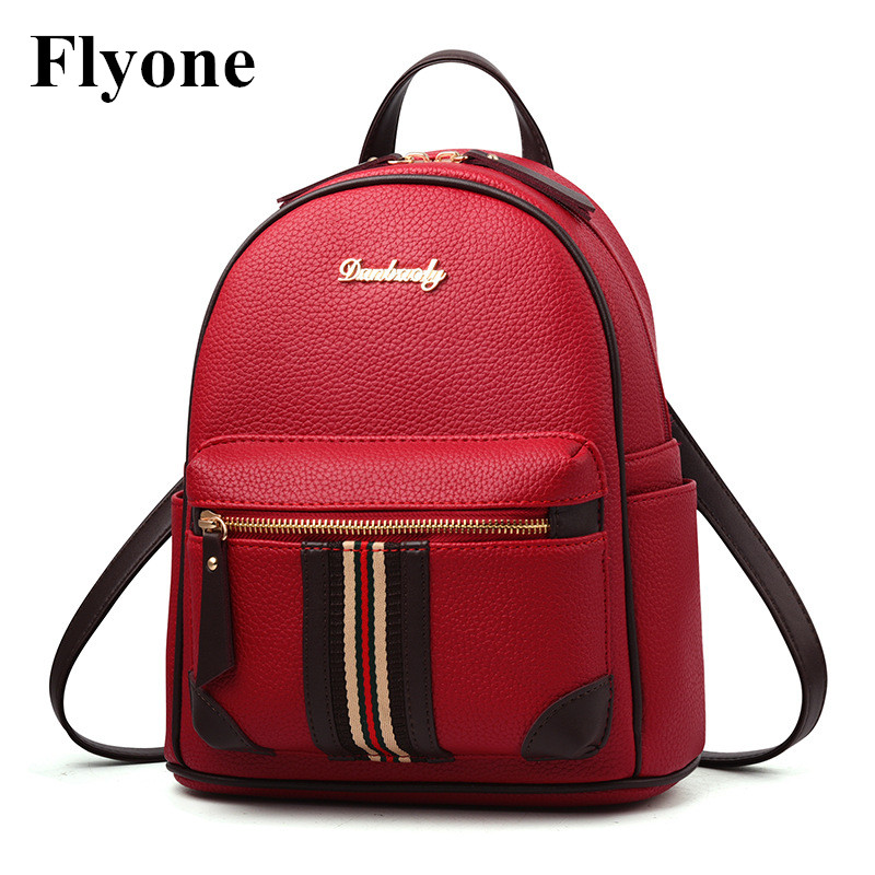 Fashion Leather Women Backpack Mini Lady Red Backpacks Cute Casual Shoulder School Bags For Teenage Girls Sweet Small Female Bag 2016 new fashion women backpack girls leather school bag women casual style shoulder bags sweet color