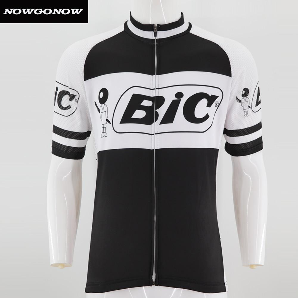 Man NOWGONOW bike wear 2018 retro cycling jersey clothing pro team racing  riding black old hort sleeve Anti-sweat Polyester 5b18c661b