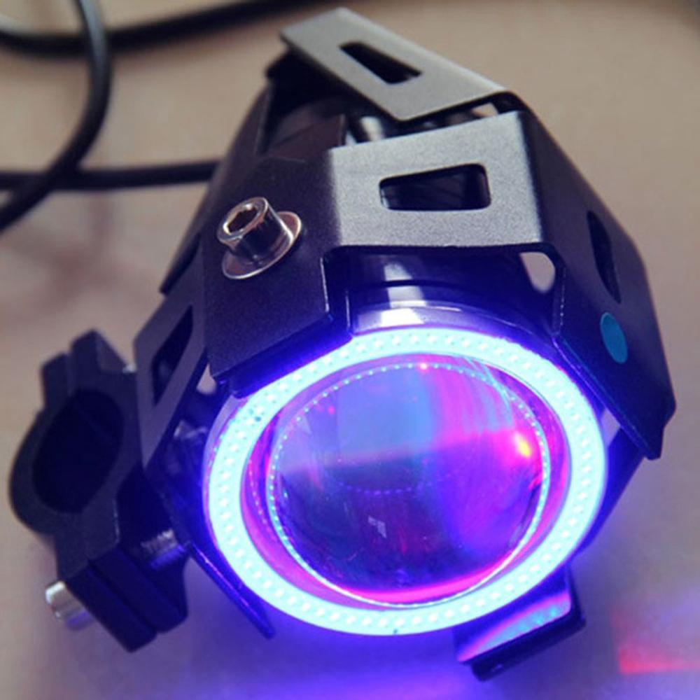 Image 5 - 2PCS 125W 12V Motorcycle Headlight 3000LM moto spotlight U7 LED Driving Fog Spot Head Light Decorative Lamp