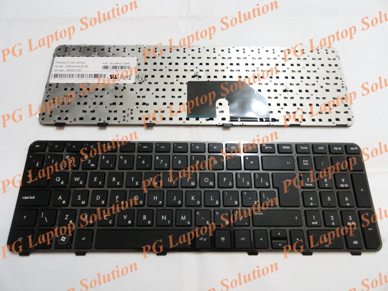 Russian RU Keyboard for HP Pavilion DV6 DV6T DV6-6000 DV6-6100 DV6-6200 DV6-6b00 dv6-6c00 Black NSK-HWOUS OR 665937-251