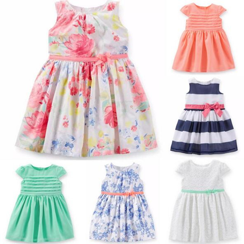 2016 New Summer Style Brand Baby Dresses Baby Girl Summer Princess