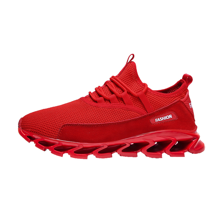 Blade Shoes Plus Size Men 39 s Shoes 47 Breathable Running Shoes Mesh Training Shoes 46 New Style of 2019 Pure Color Casual Shoes in Running Shoes from Sports amp Entertainment