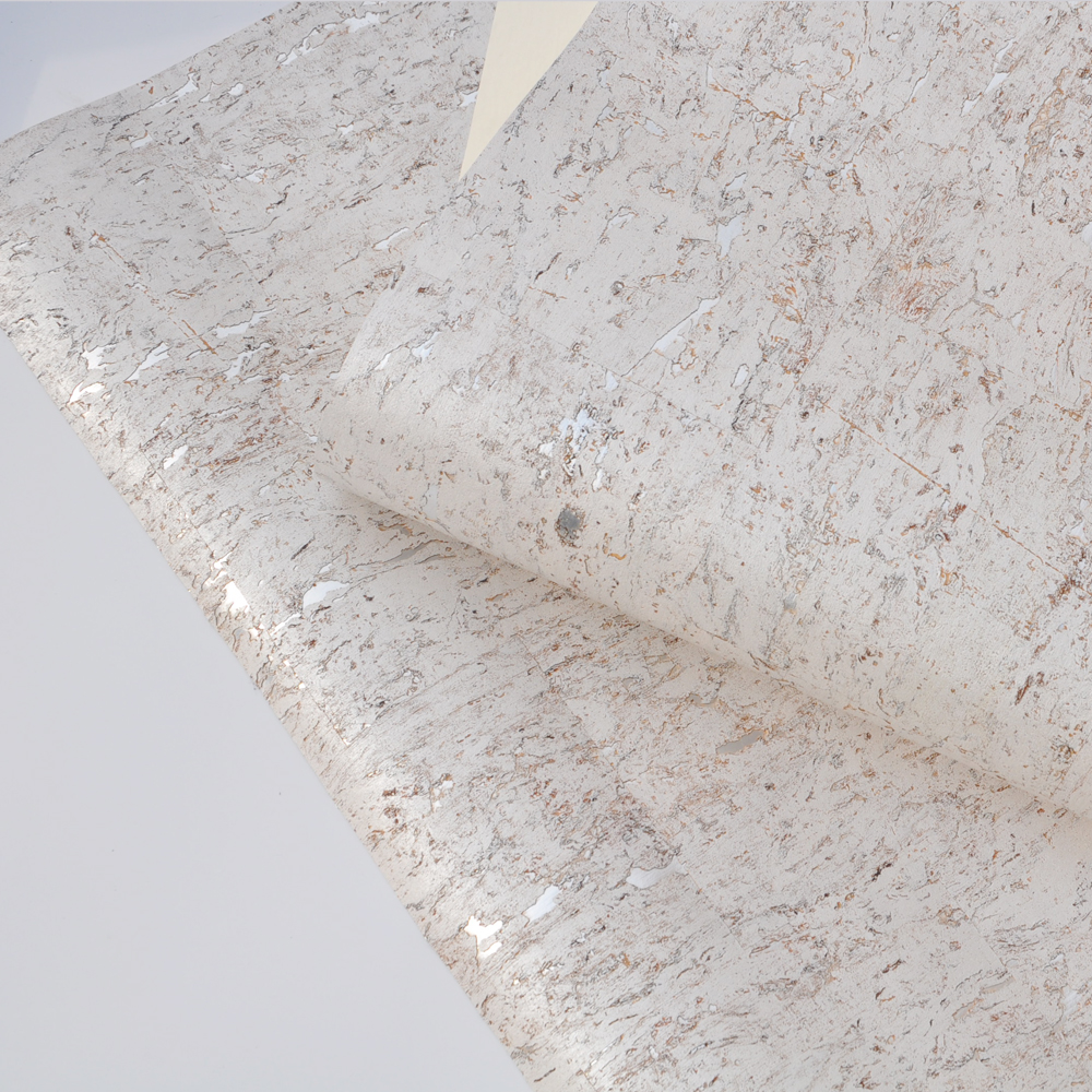 New Beige Off White  Silver Cork Wallpaper Natural Home Decoration  Wallcoveirng  For Hotel Designs