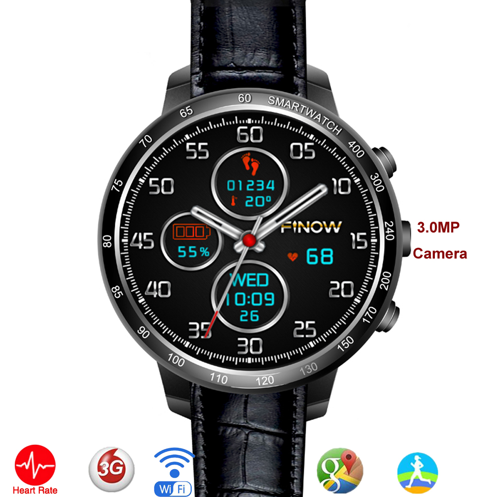 New Android 5.1 MTK6272 Watch Q7 Smart Watch Phone Support 3G SIM TF Card Wifi GPS 0.3MP Camera for Android Phone with 8G free 2017 new smart watch q98 mtk6580 support sim sd card bluetooth wifi gps sms camera cell phone bracelet for iphone